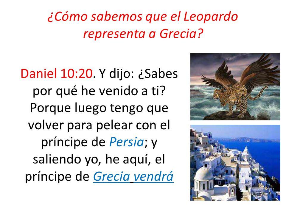 ¿Cómo sabemos que el Leopardo representa a Grecia