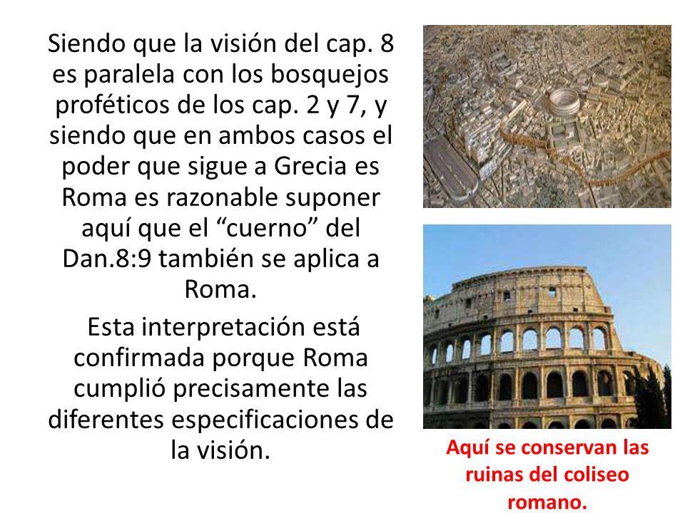 Aquí se conservan las ruinas del coliseo romano.