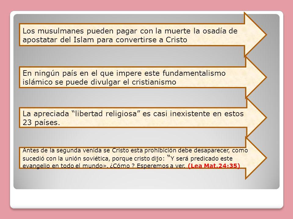 Los musulmanes pueden pagar con la muerte la osadía de apostatar del Islam para convertirse a Cristo