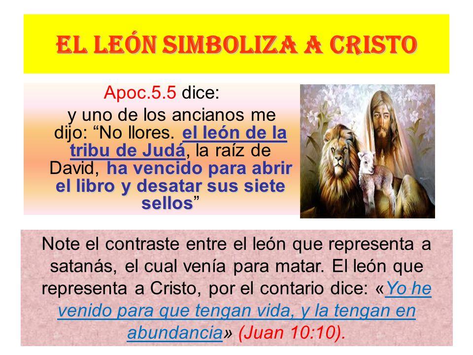 EL LEÓN SIMBOLIZA A CRISTO