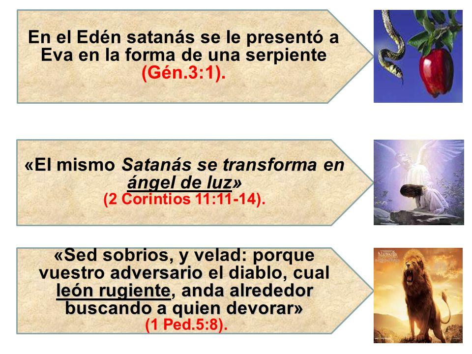 «El mismo Satanás se transforma en ángel de luz»