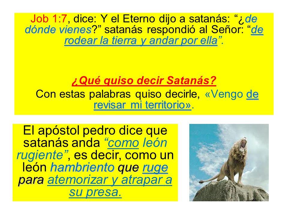 ¿Qué quiso decir Satanás