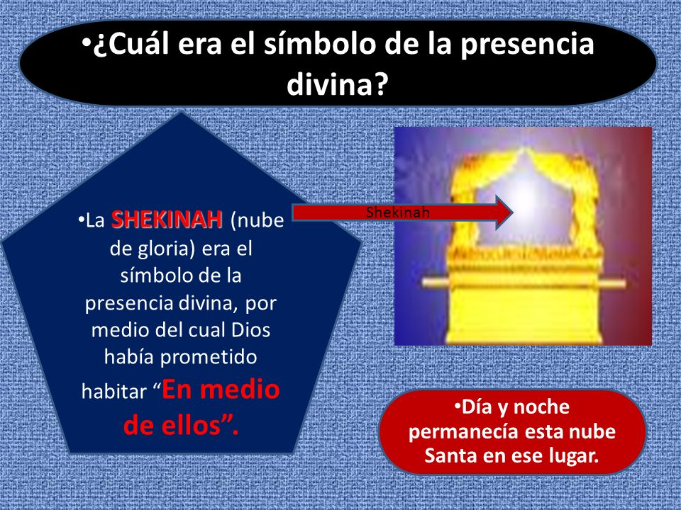 ¿Cuál era el símbolo de la presencia divina