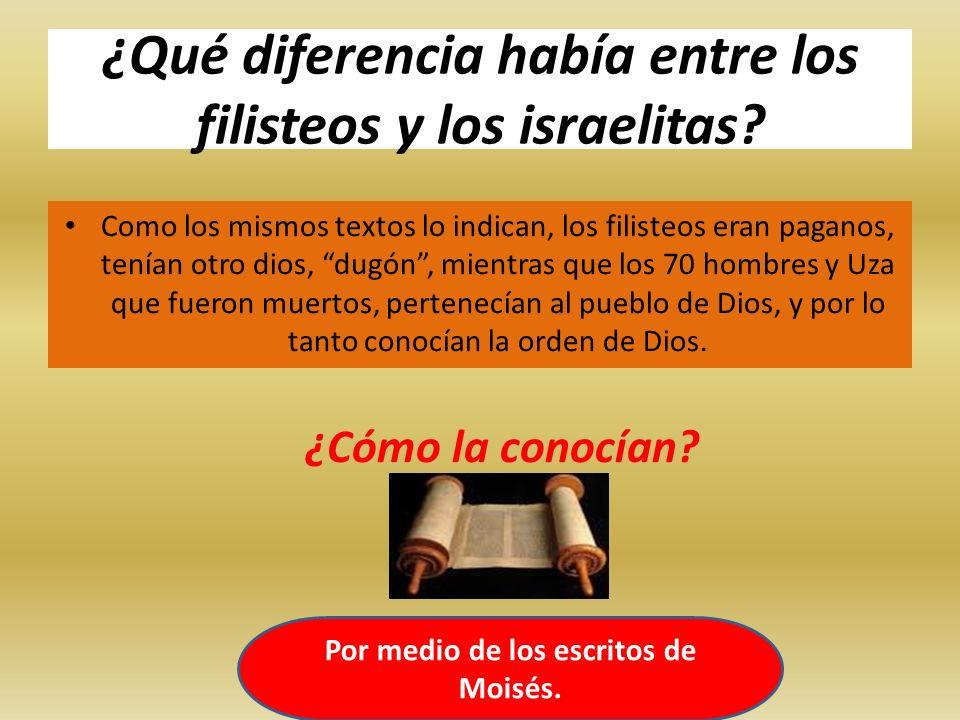 ¿Qué diferencia había entre los filisteos y los israelitas