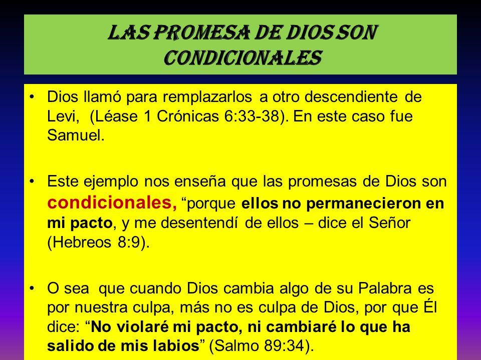 Las promesa de Dios son condicionales