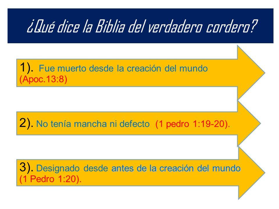 ¿Qué dice la Biblia del verdadero cordero