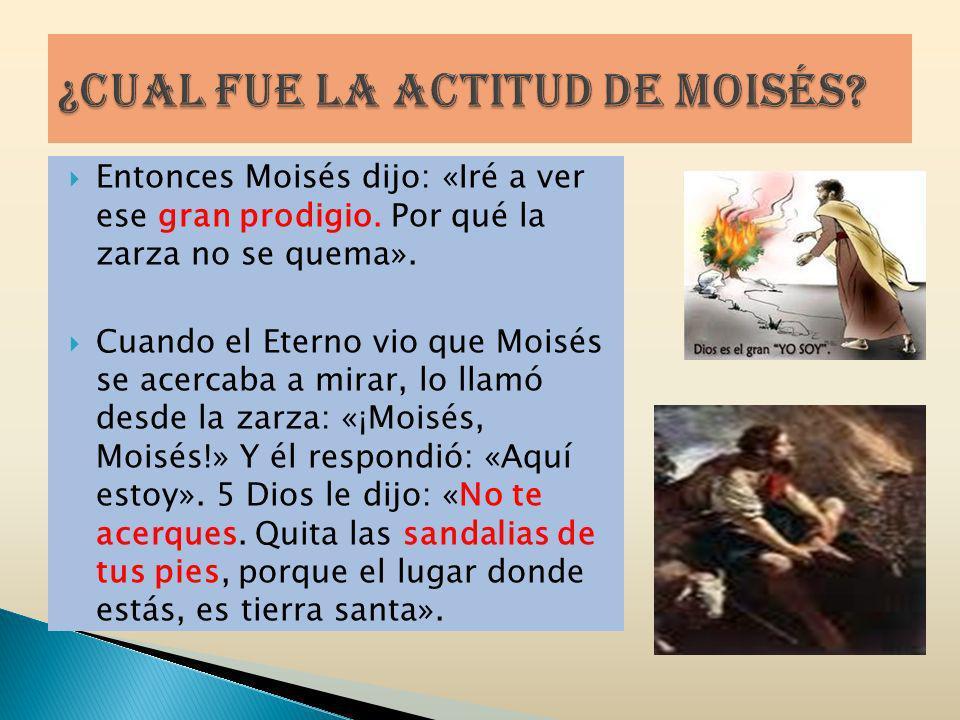 ¿Cual fue la actitud de Moisés