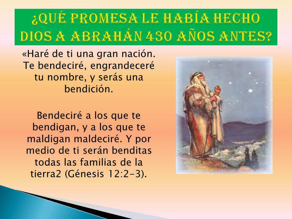 ¿Qué promesa le había hecho Dios a Abrahán 430 años antes