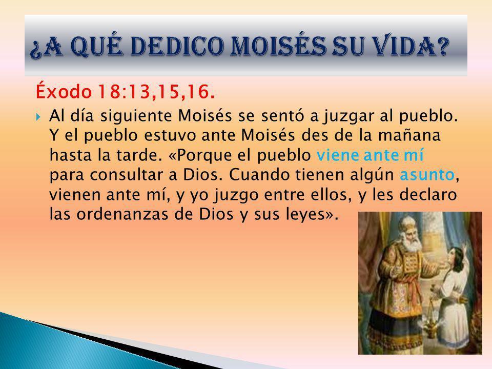 ¿A qué dedico Moisés su vida