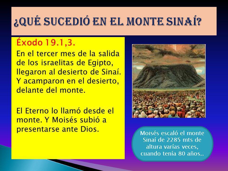 ¿Qué sucedió en el monte Sinaí