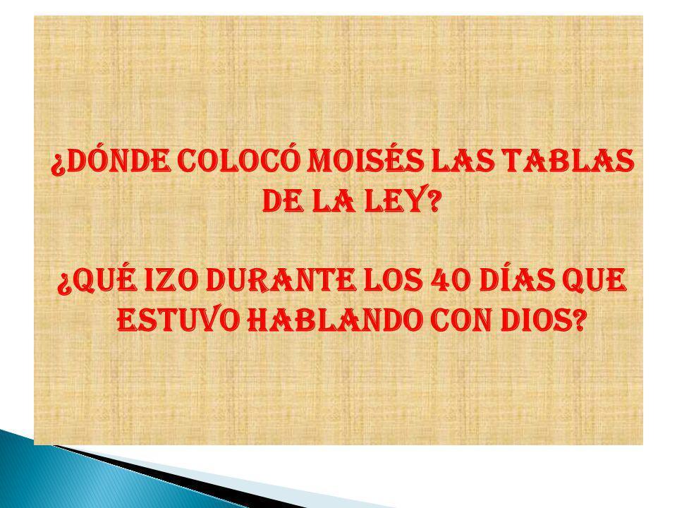 ¿Dónde colocó Moisés las tablas de la Ley