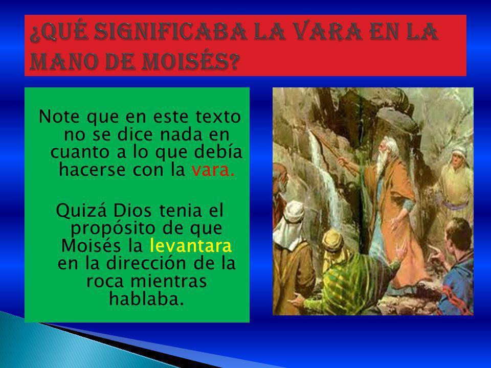 ¿Qué significaba la vara en la mano de Moisés
