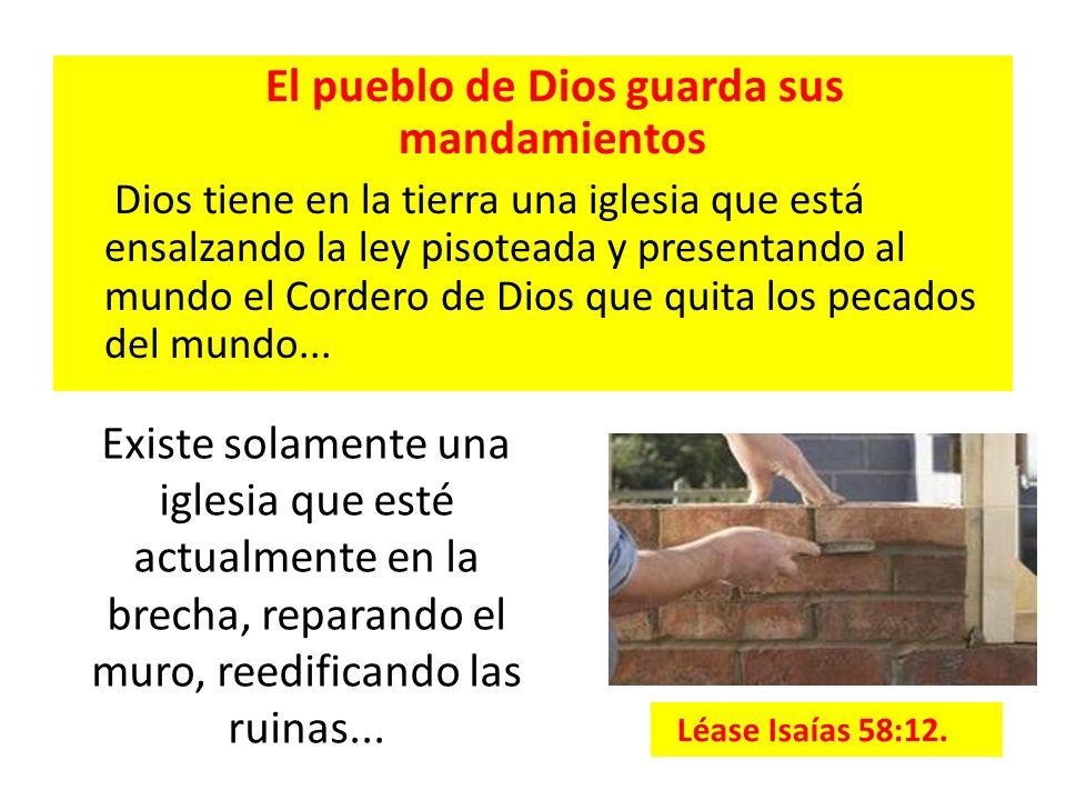 El pueblo de Dios guarda sus mandamientos