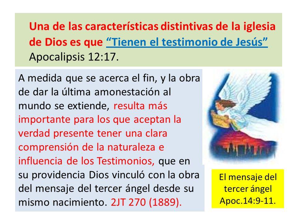 El mensaje del tercer ángel Apoc.14:9-11.
