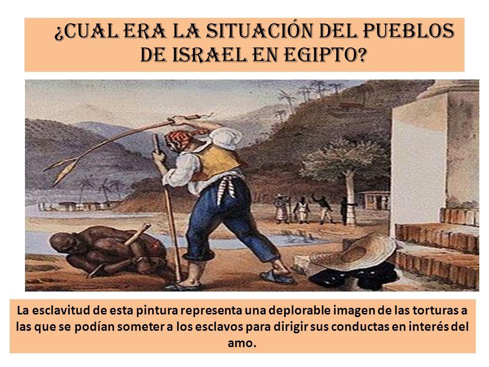 ¿Cual era la situación del pueblos de Israel en Egipto