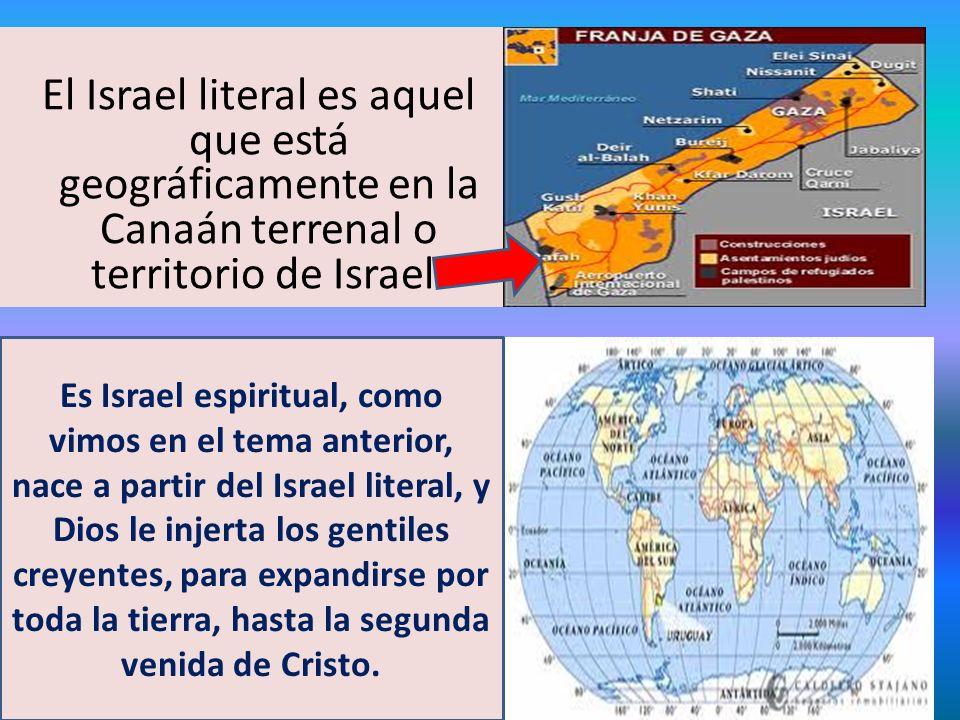 El Israel literal es aquel que está geográficamente en la Canaán terrenal o territorio de Israel.