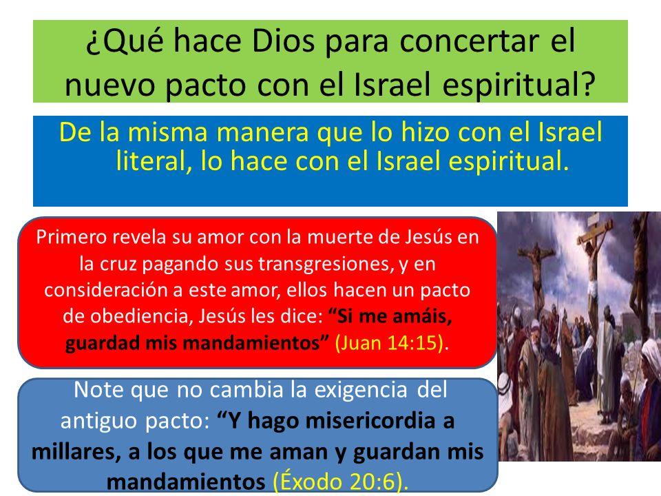 ¿Qué hace Dios para concertar el nuevo pacto con el Israel espiritual