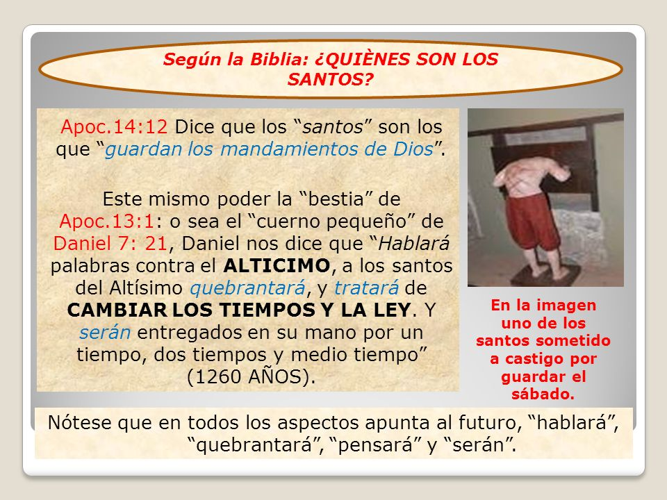 Según la Biblia: ¿QUIÈNES SON LOS SANTOS