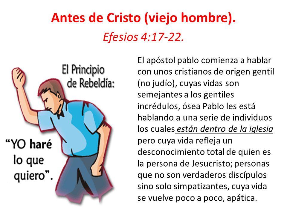 Antes de Cristo (viejo hombre).