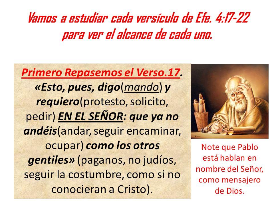 Vamos a estudiar cada versículo de Efe