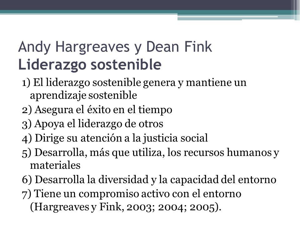 Andy Hargreaves y Dean Fink Liderazgo sostenible