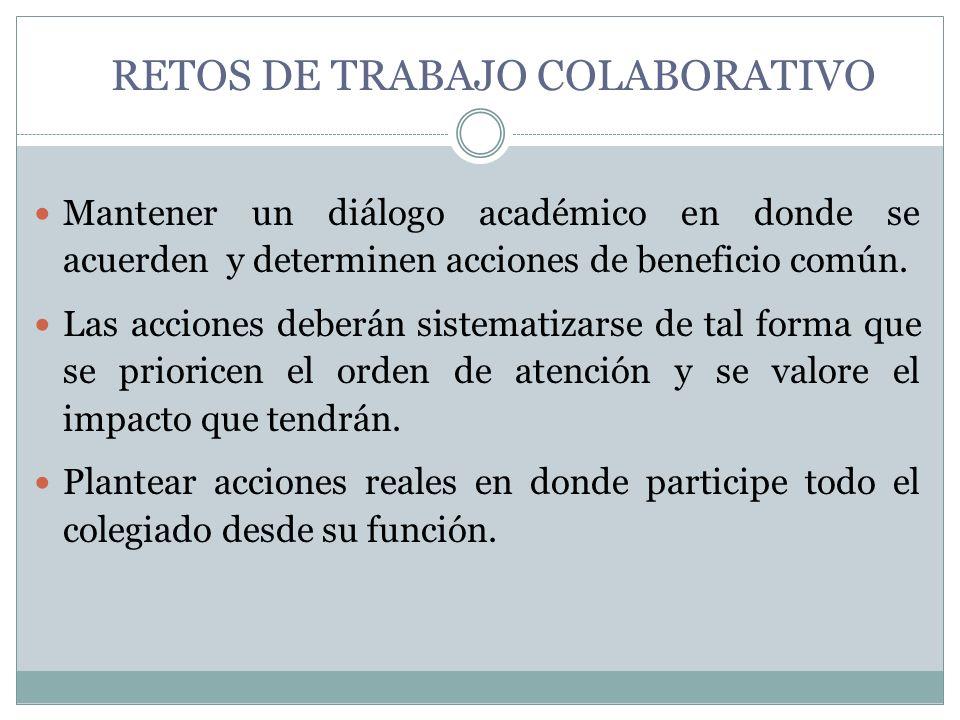 RETOS DE TRABAJO COLABORATIVO