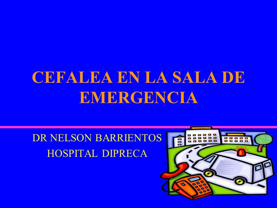 CEFALEA EN LA SALA DE EMERGENCIA
