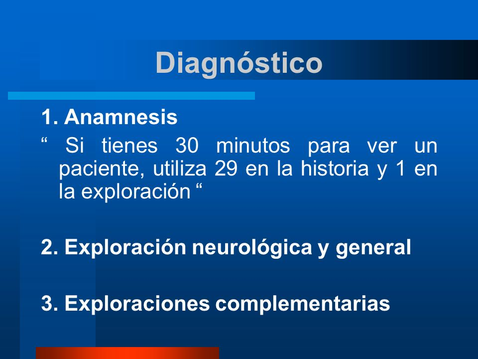 Diagnóstico 1. Anamnesis