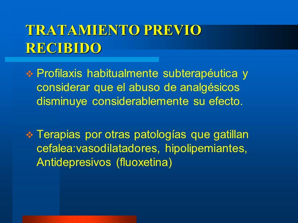 TRATAMIENTO PREVIO RECIBIDO