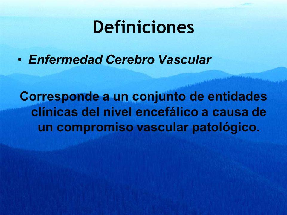 Definiciones Enfermedad Cerebro Vascular