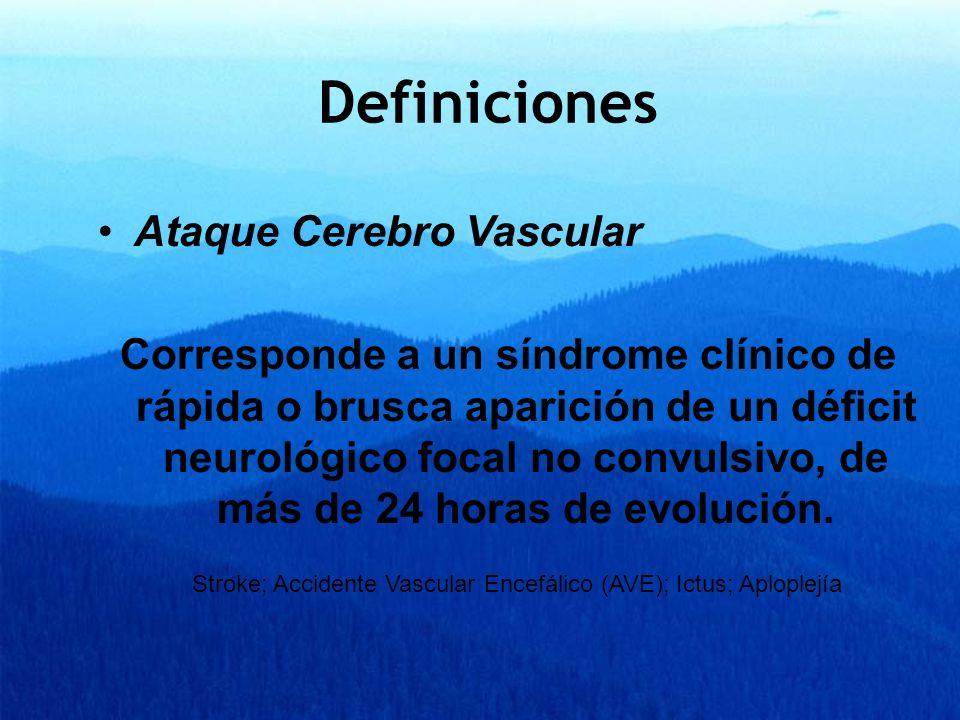 Stroke; Accidente Vascular Encefálico (AVE); Ictus; Aploplejía
