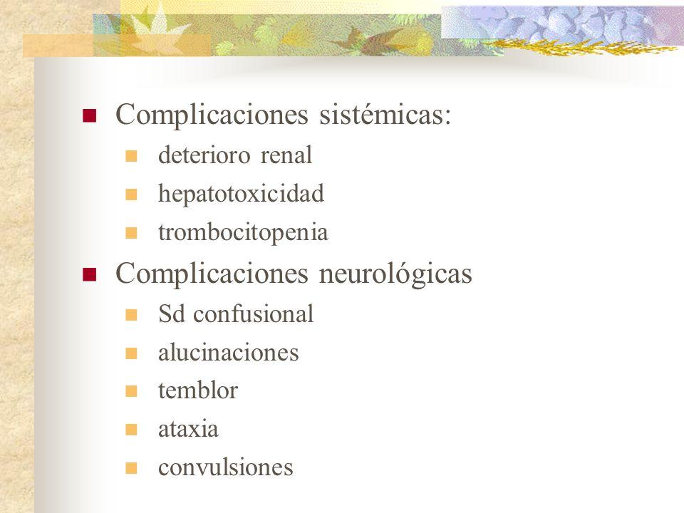 Complicaciones sistémicas: