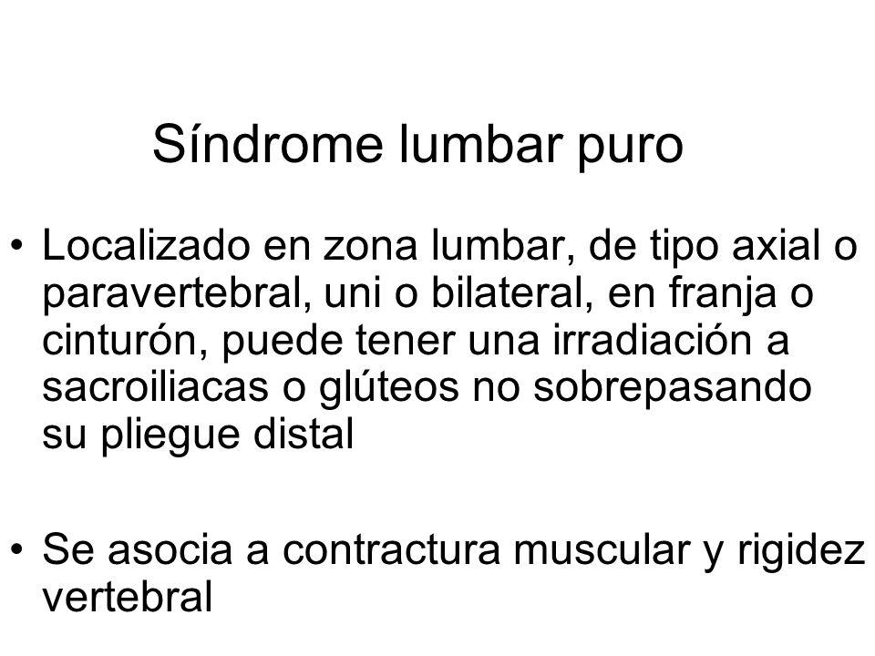Síndrome lumbar puro