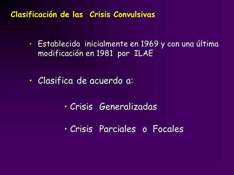 Clasifica de acuerdo a: Crisis Generalizadas