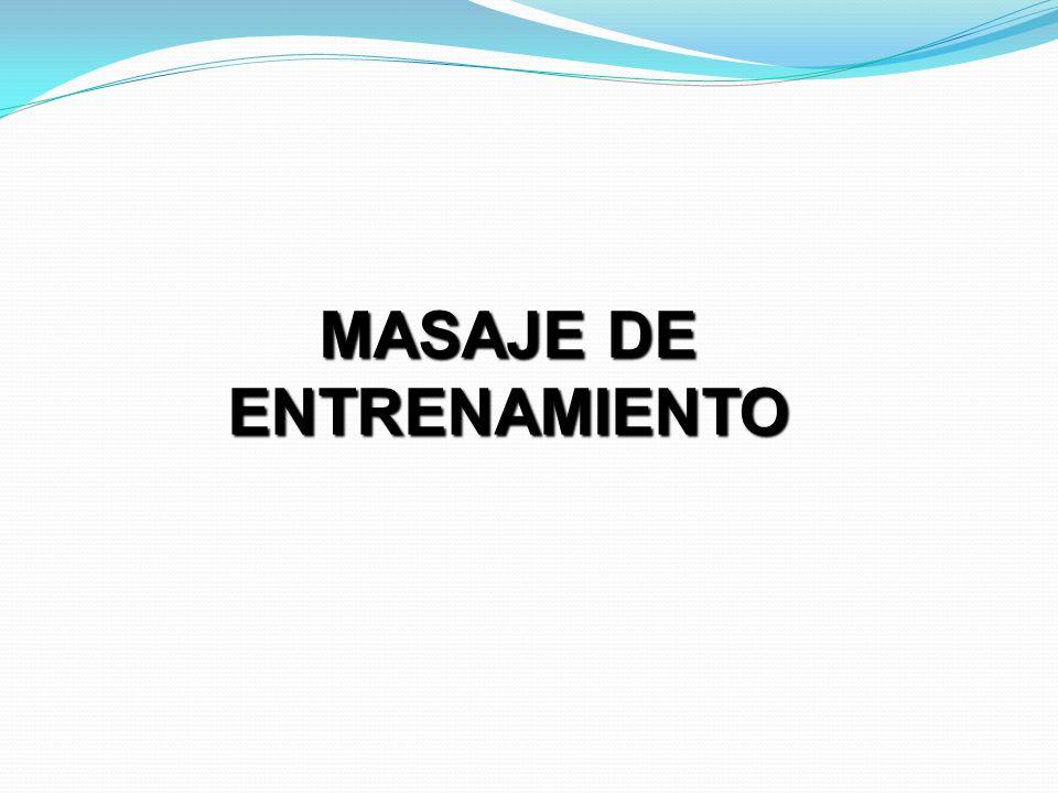 MASAJE DE ENTRENAMIENTO