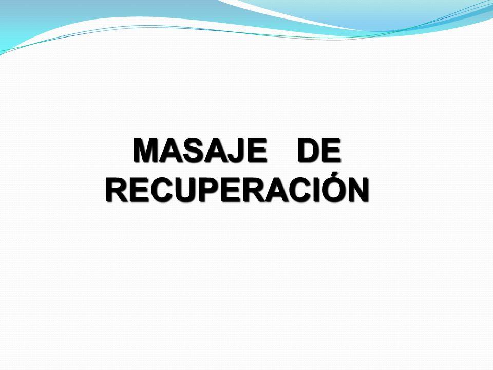 MASAJE DE RECUPERACIÓN