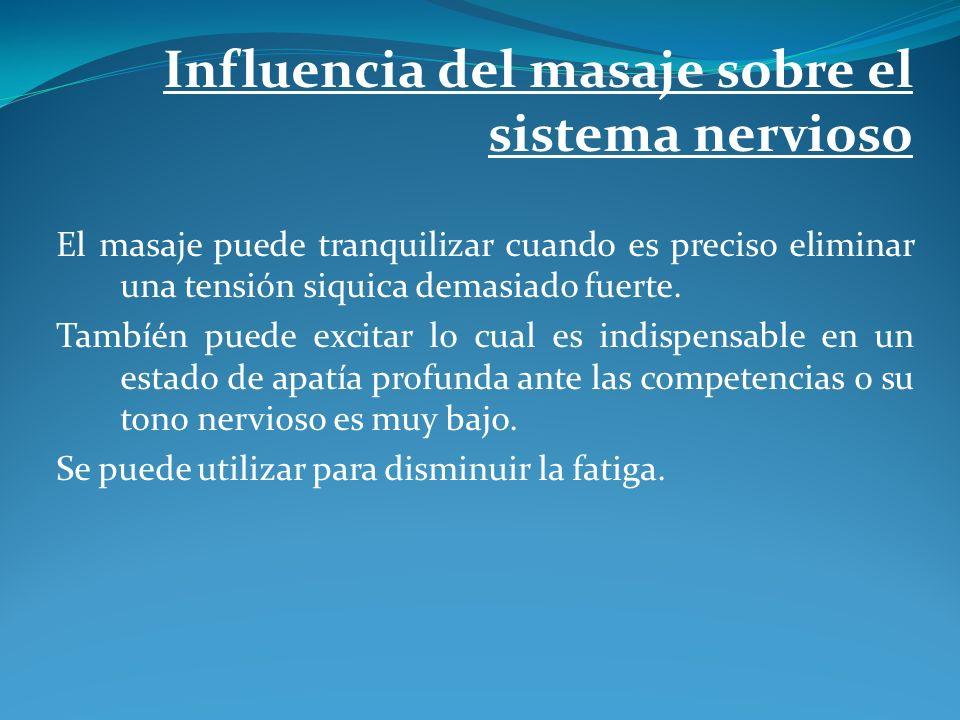 Influencia del masaje sobre el sistema nervioso