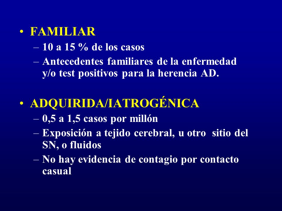 ADQUIRIDA/IATROGÉNICA