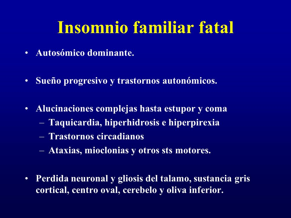 Insomnio familiar fatal