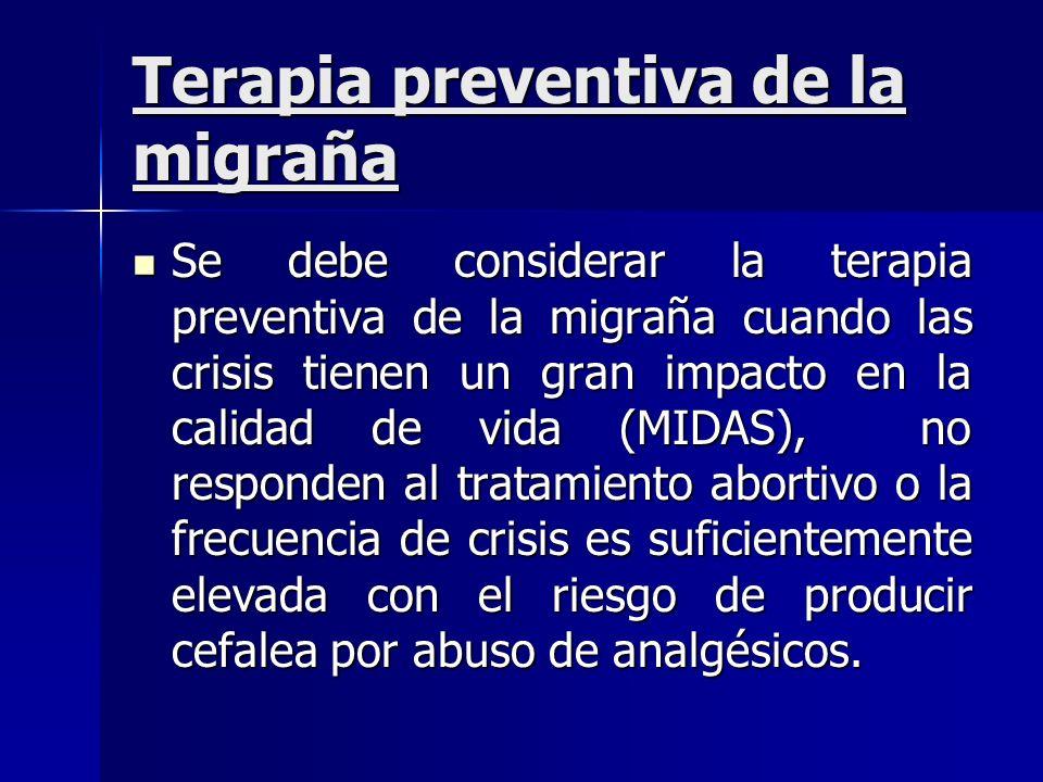 Terapia preventiva de la migraña