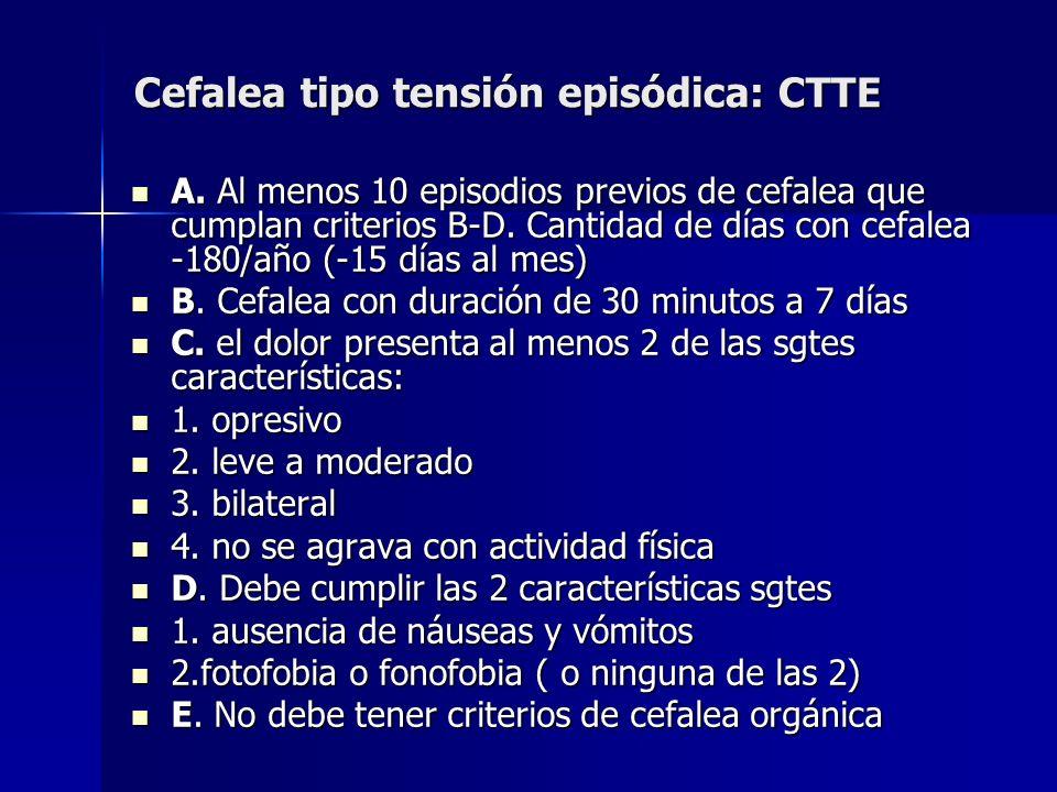 Cefalea tipo tensión episódica: CTTE