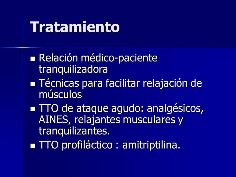 Tratamiento Relación médico-paciente tranquilizadora