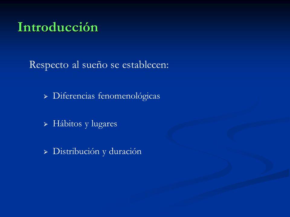 Introducción Respecto al sueño se establecen: