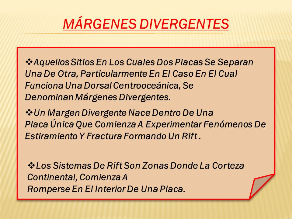 MÁRGENES DIVERGENTES