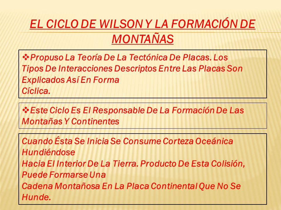 EL CICLO DE WILSON Y LA FORMACIÓN DE MONTAÑAS