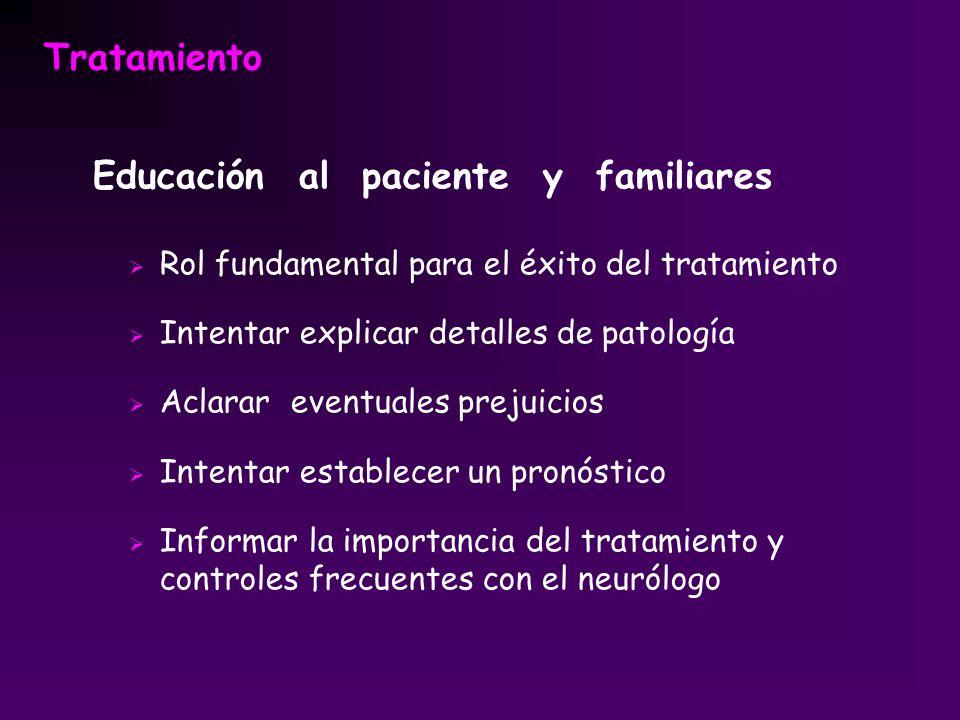 Educación al paciente y familiares