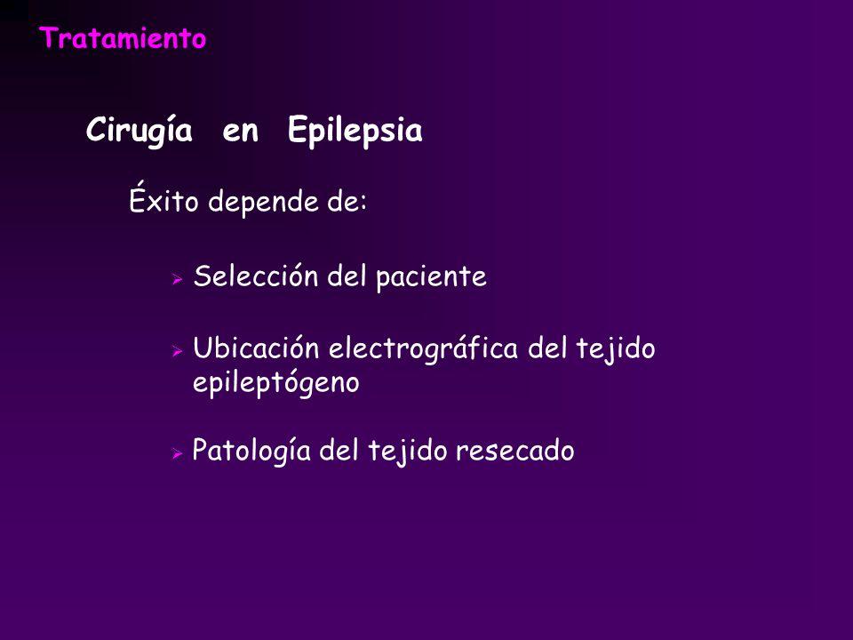 Cirugía en Epilepsia Tratamiento Éxito depende de: