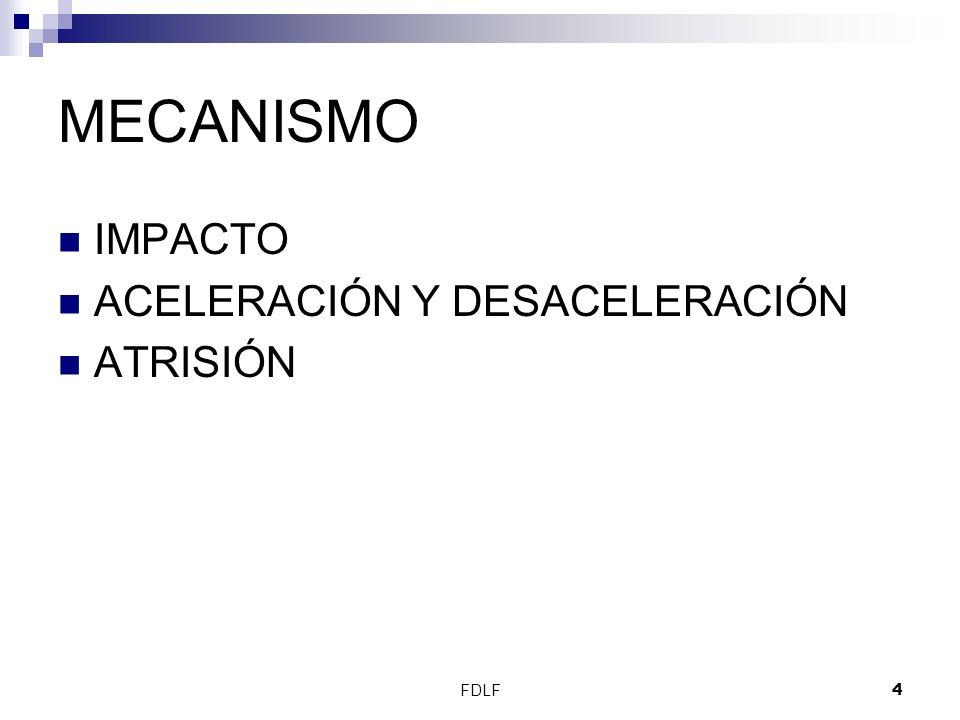 MECANISMO IMPACTO ACELERACIÓN Y DESACELERACIÓN ATRISIÓN FDLF