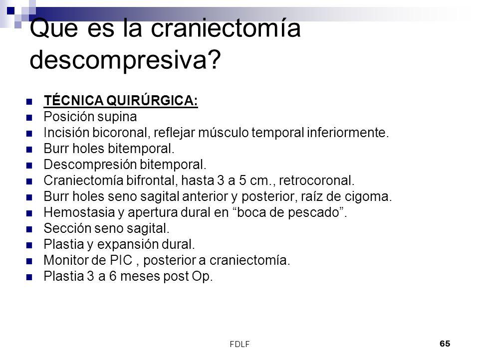 Que es la craniectomía descompresiva