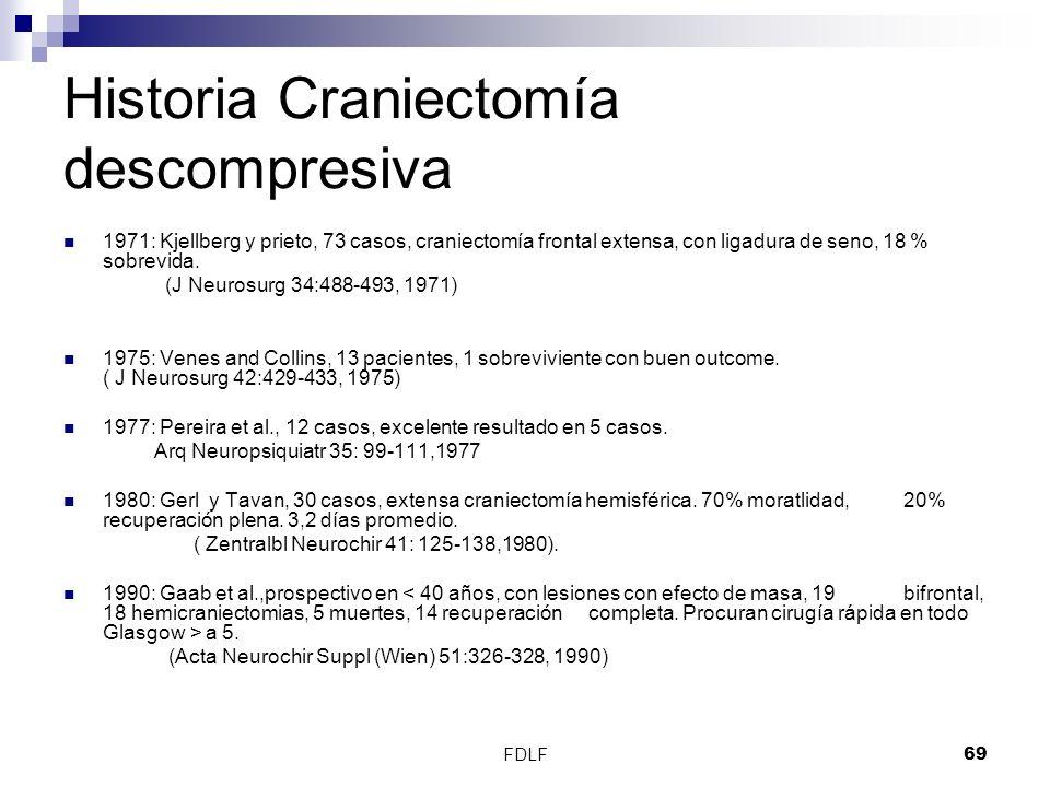 Historia Craniectomía descompresiva